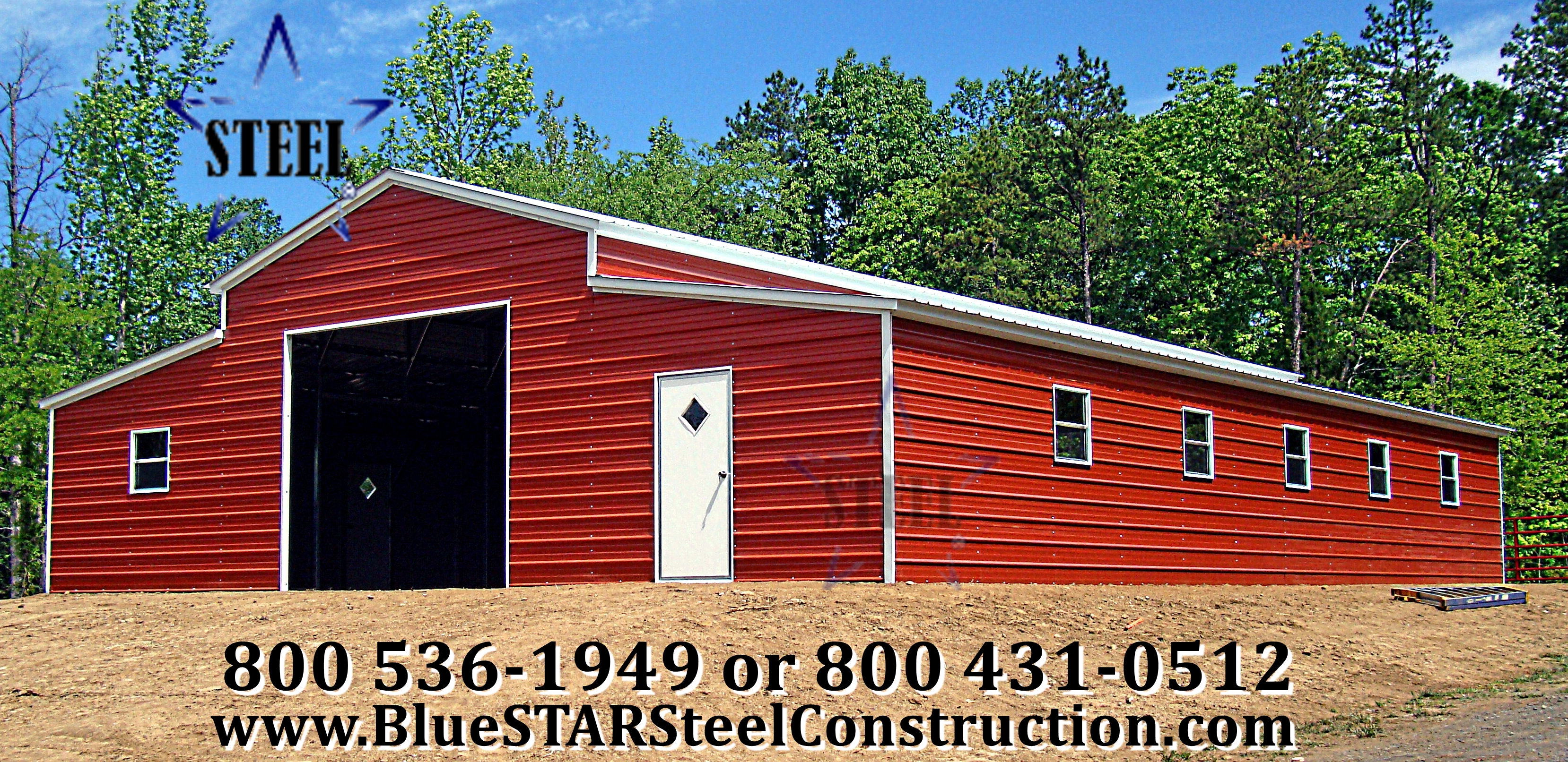 Low cost barns bluestar steel buildings for Cost of building a horse barn
